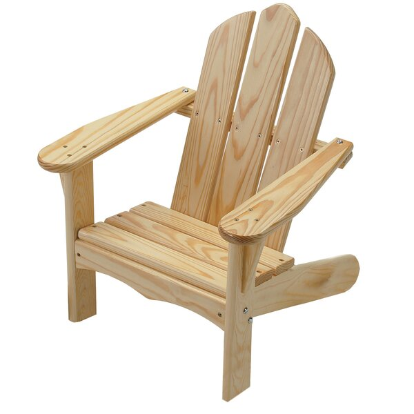 Arielle Child's Solid Wood Adirondack Chair by Loon Peak Loon Peak