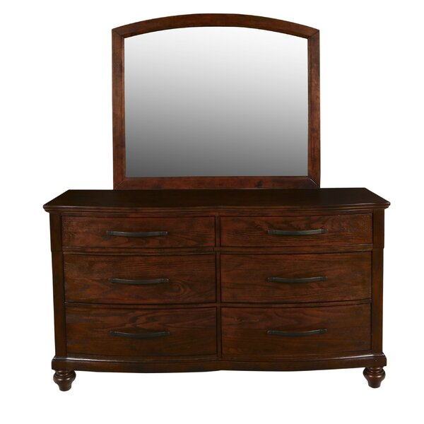Semaj 6 Drawer Dresser With Mirror By Alcott Hill by Alcott Hill #1