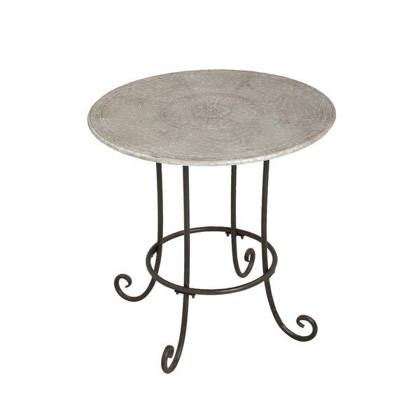 Cecere Round Iron Bistro Table by Fleur De Lis Living
