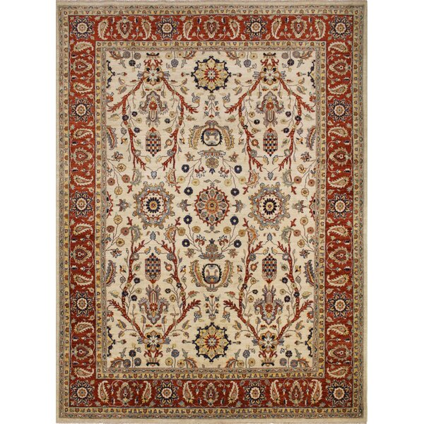 One-of-a-Kind Abbotsford Fine Hand-Knotted Ivory Area Rug by Isabelline