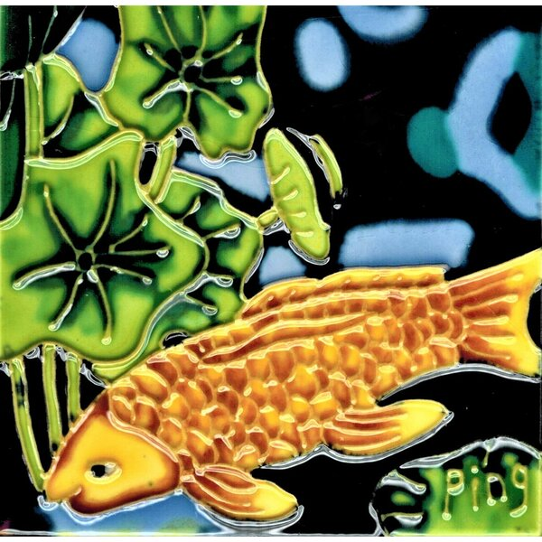 Gold Fish Wall Decor by Continental Art Center