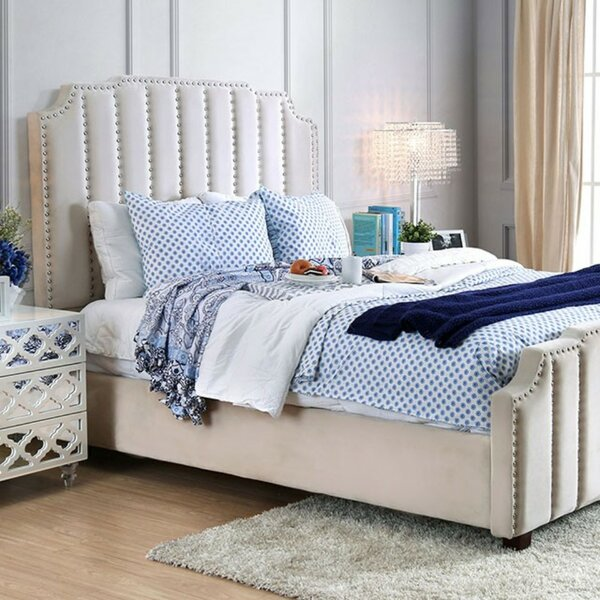 Linton Padded Lannelette Fabric Upholstered Standard Bed by House of Hampton