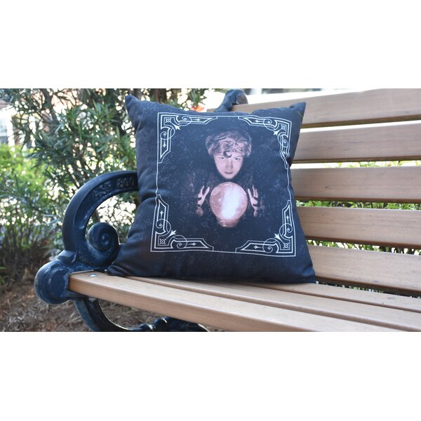 Maser All Seeing Psychic Halloween Outdoor Throw Pillow by The Holiday Aisle