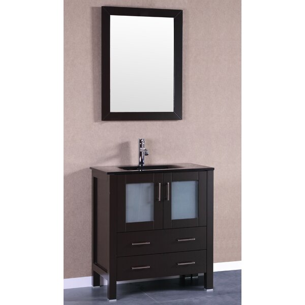 Trieste Allier 30 Single Bathroom Vanity Set with Mirror by Bosconi