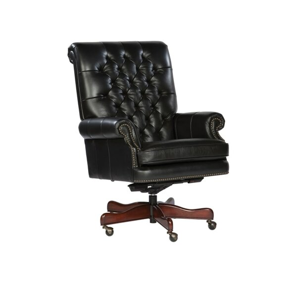 Tegan High-Back Leather Executive Chair by Darby Home Co