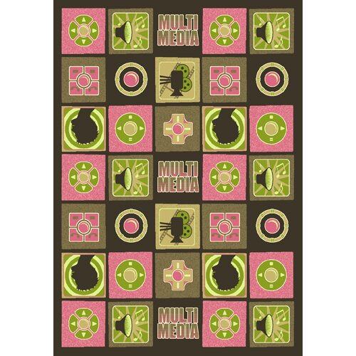 Green/Pink Area Rug by The Conestoga Trading Co.