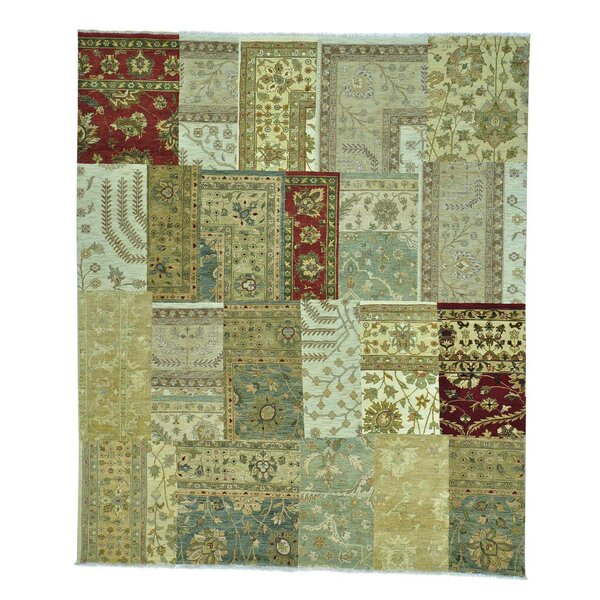 One-of-a-Kind Granillo 400 kpsi Hand-Knotted Beige/Ivory Area Rug by Bloomsbury Market