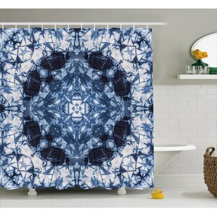 Catherine Tie Dye Microcosm Motif Generated With Digital Large Volume  Active Rough Effect Shower Curtain