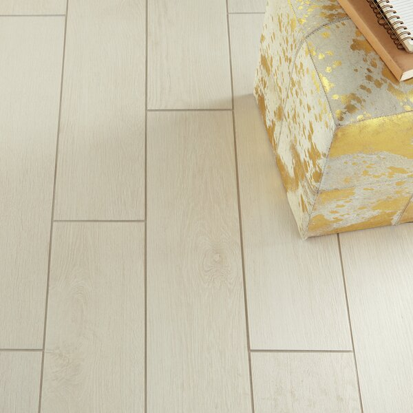 Harmony Grove 6 x 36 Porcelain Wood Look Tile in Oak Cotton by PIXL