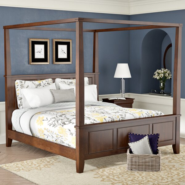 Borden Canopy Bed by Three Posts