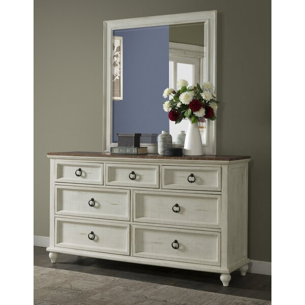 Meryl 7 Drawer Double Dresser with Mirror by Canora Grey