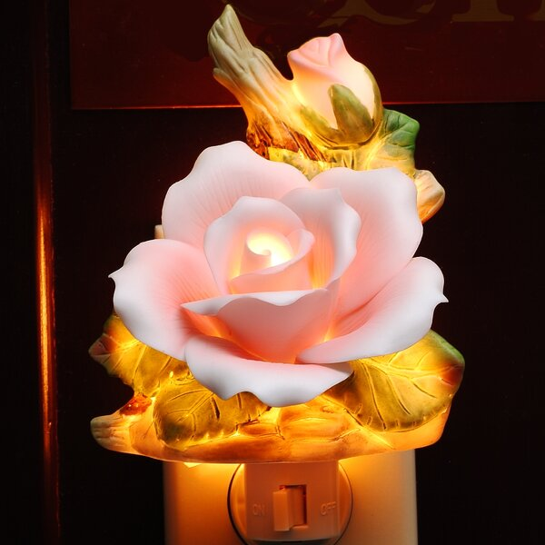 Rose Night Light by Cosmos Gifts