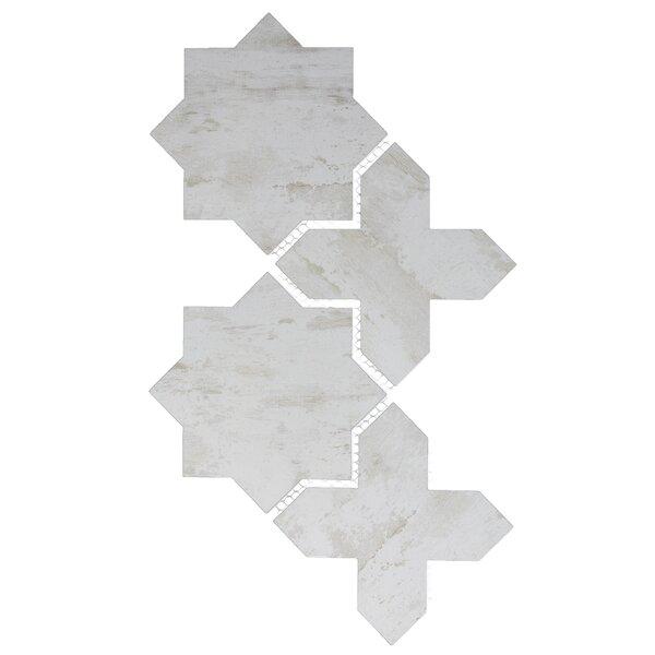 Nature Celestial 6 x 6 Glass Tile in Gray/Tan by Abolos