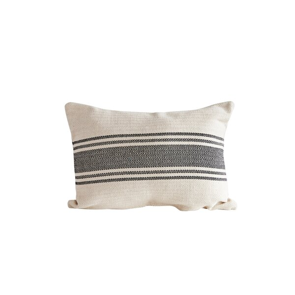 Reshma Stripe Lumbar Pillow by Highland Dunes