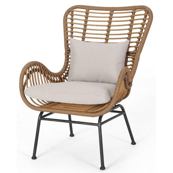 Tarnowski Indoor Wicker Club Chair (Set of 2) by Bungalow Rose