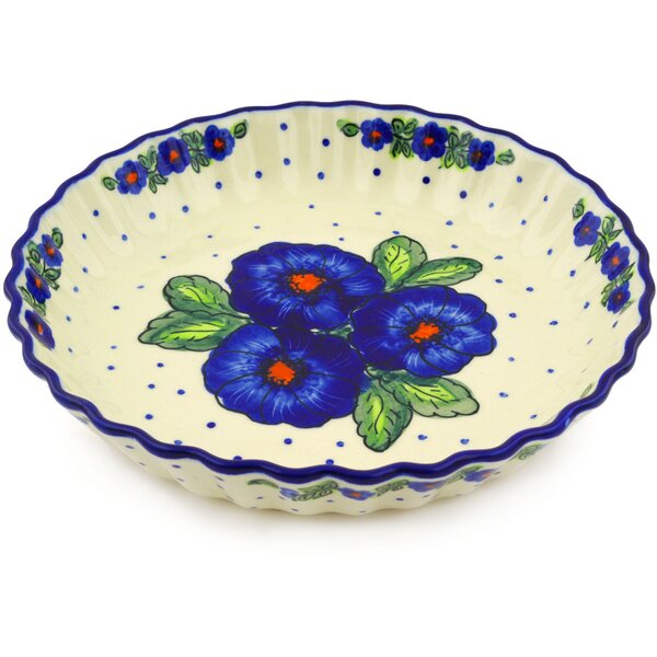 Polish Pottery Fluted Pie Dish by Polmedia