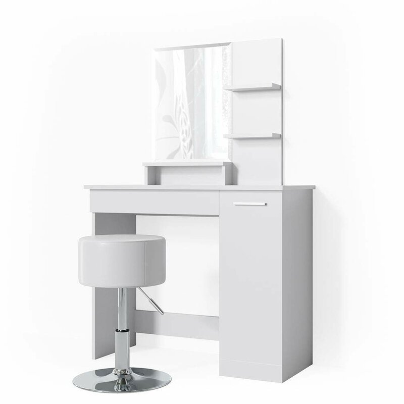 Fontanez Dressing Table Set With Mirror by Brayden Studio