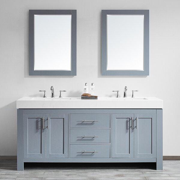 Neva 72 Double Bathroom 2 Bathroom Vanity