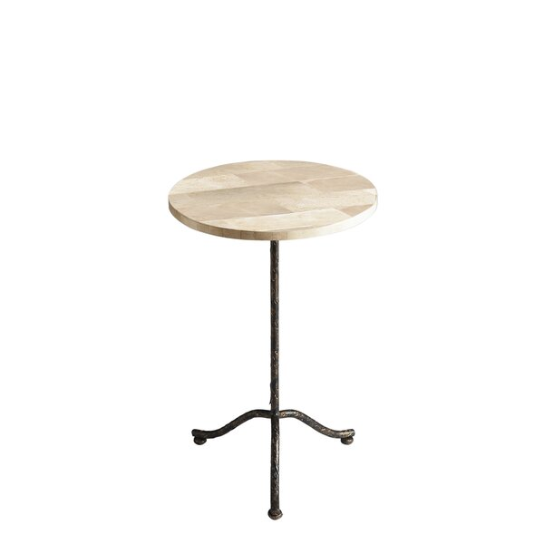 Chrystal Pedestal End Table by Fleur De Lis Living