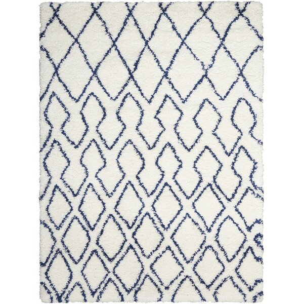 Riad Ivory/Navy Area Rug by Calvin Klein