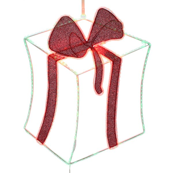 Pre-lit 2-D LED Gift Box Christmas Decoration by Dyno Seasonal Solutions