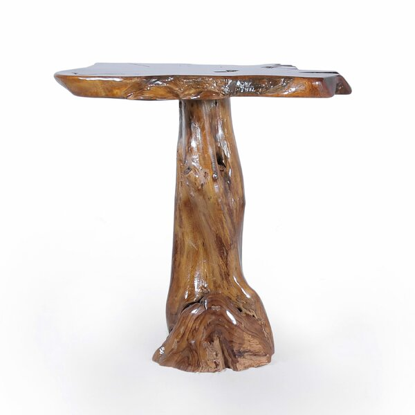 Teak Slab Pub Table by Chic Teak