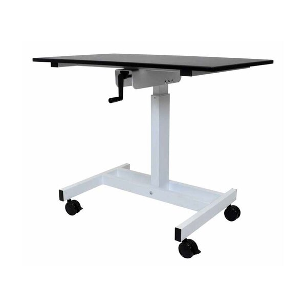 Single Column Crank Standing Desk by Offex