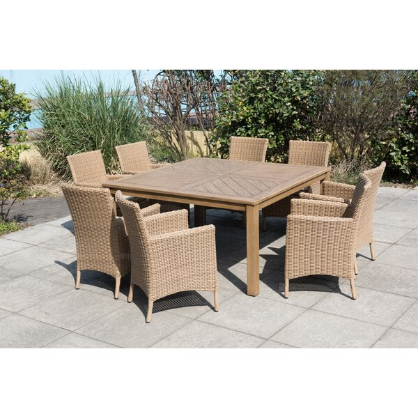 Kentwood 9 Piece Dining Set with Cushions by Rosecliff Heights