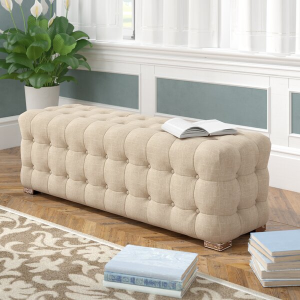 Gowans Upholstered Bench by Three Posts