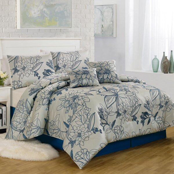 Summerline 6 Piece Comforter Set by Textiles Plus Inc.