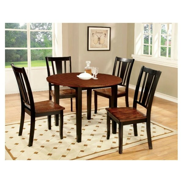 Mooney Transitional 5 Piece Solid Wood Dining Set by Winston Porter