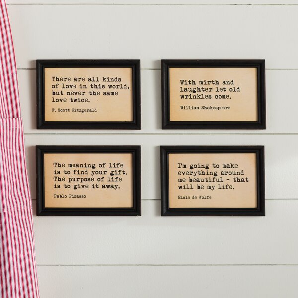 4 Piece Framed Wall Art Set by Laurel Foundry Modern Farmhouse