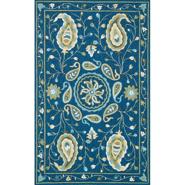 Kips Bay Hand-Woven Blue Area Rug by Charlton Home