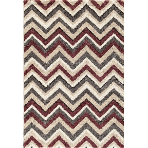Delaney Beige/Red Area Rug by Threadbind