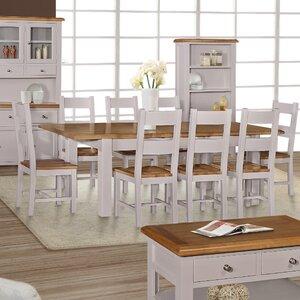 Essgruppe Vigo mit ausziehbarem Tisch und 8 Stühlen von Hazelwood Home