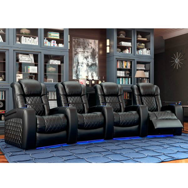 Continental HR Series Curved Home Theater Row Seating (Row Of 4) By Red Barrel Studio