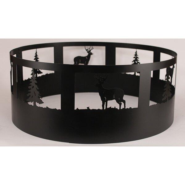 Gonzalez Deer Steel Charcoal Fire Ring by Loon Peak