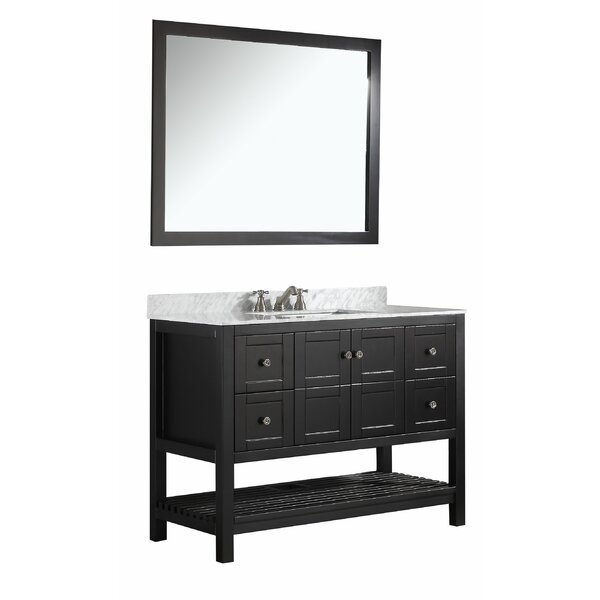 Cline 48 Single Bathroom Vanity Set with Mirror by Three Posts