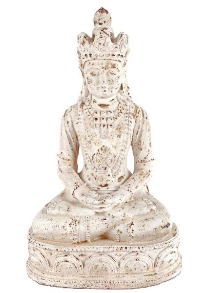 Weathered Resting Buddha Statue by ABC Home Collection