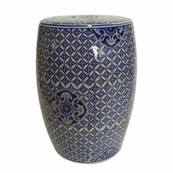 Zaytoune Ikat Ceramic Garden Stool by Bloomsbury Market