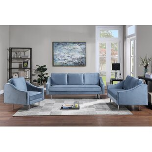 Morden Upholstered Armchair, Loveseat And Three Seat Sofa For Home Or Office by Mercer41