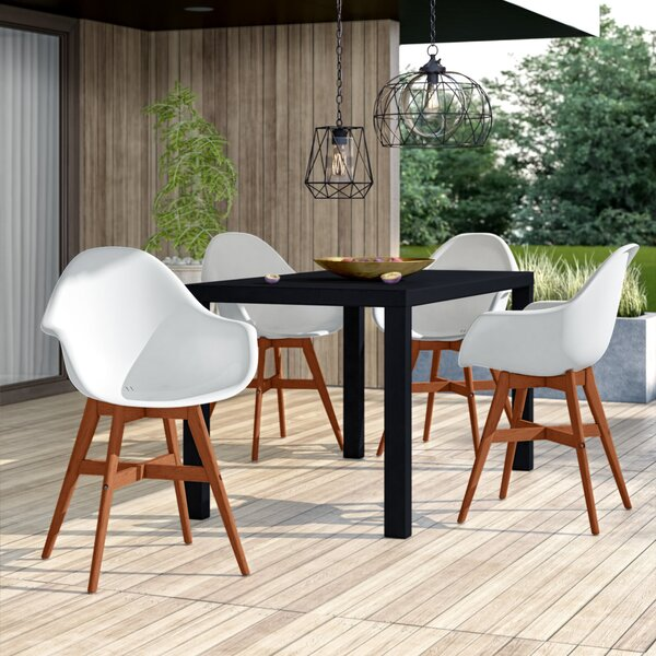 Alshain Patio Dining Chair (Set Of 4) By Mercury Row
