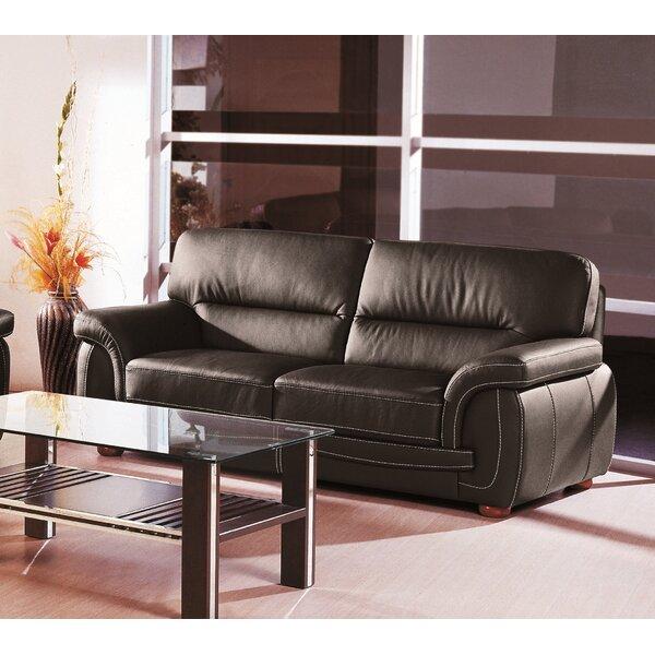 Leather Sofa by Hokku Designs