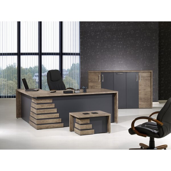 Whitewood Modern 3 Piece L Shaped Desk Office Suite by Orren Ellis