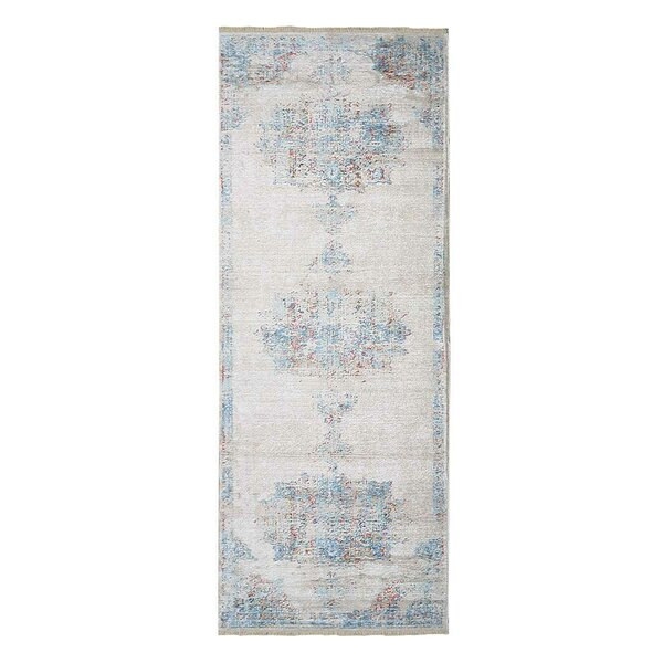 Hartshorn Crossweave Blue/Beige Area Rug by Bungalow Rose