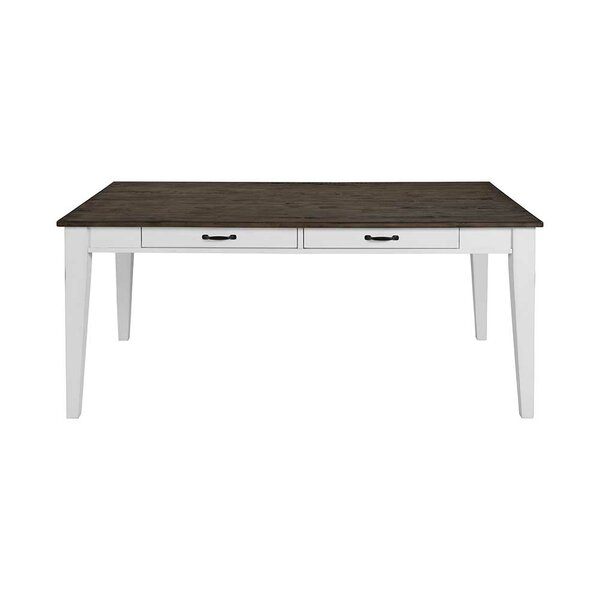 Best #1 Brinda 4 Drawers Solid Wood Dining Table By August Grove Today Sale Only
