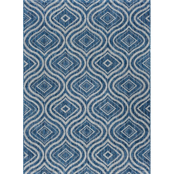 Weber Contemporary Indigo Indoor/Outdoor Area Rug by Latitude Run