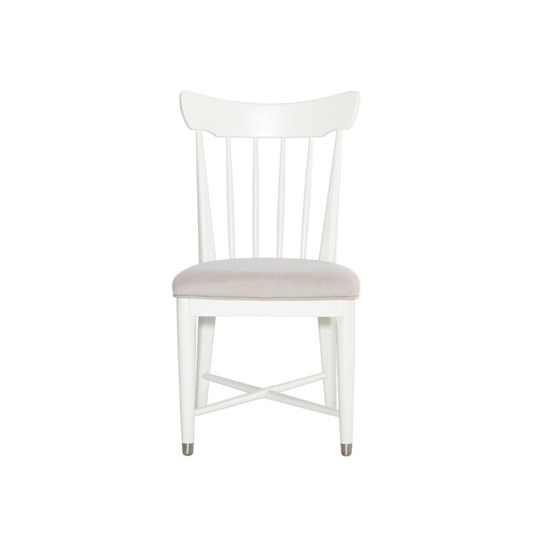 Mid-Century French White Chair by DwellStudio