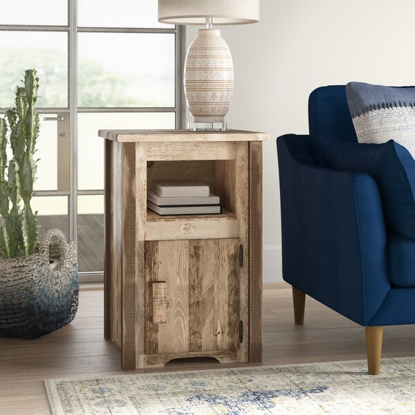 Abella End Table With Storage By Loon Peak