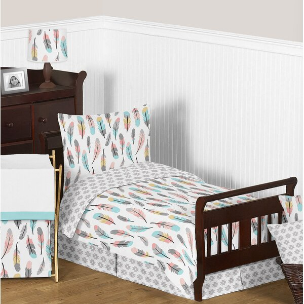 Feather 5 Piece Toddler Bedding Set by Sweet Jojo Designs